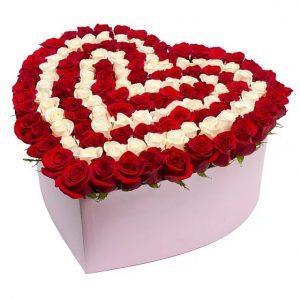 101 роза в коробке