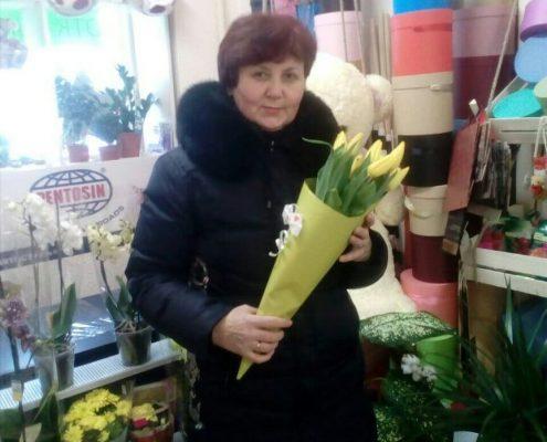 розыгрыш букета тюльпанов