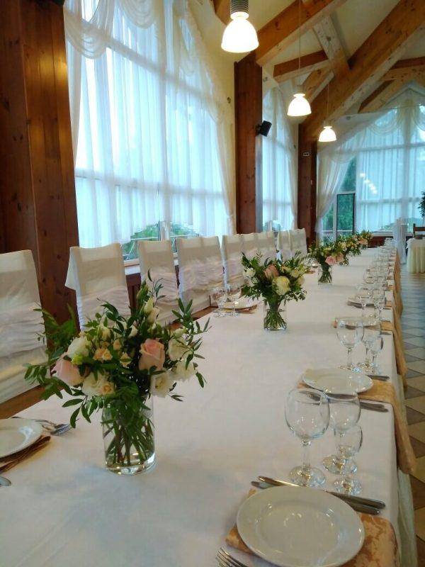 заказать оформление столов на свадьбу