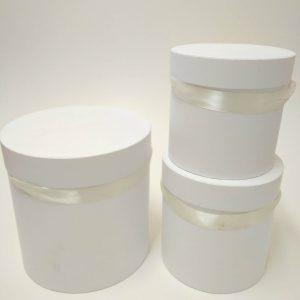 купить белую подарочную круглую шляпную коробку в минске