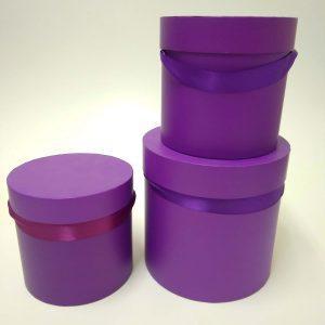 купить фиолетовую подарочную коробку