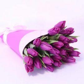 купить фиолетовые тюльпаны