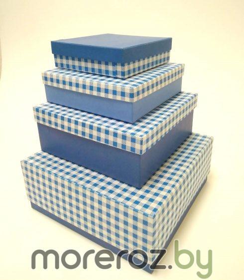 купить коробки подарочные квадратные клетка