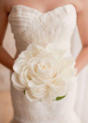 белый букет невесты гламелия