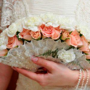 букет невесты веер