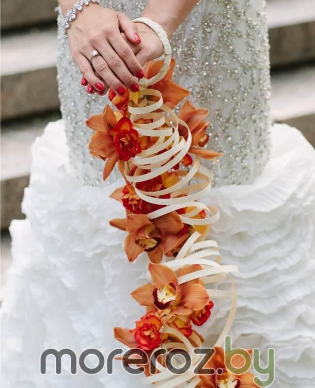 свадебный букет браслет
