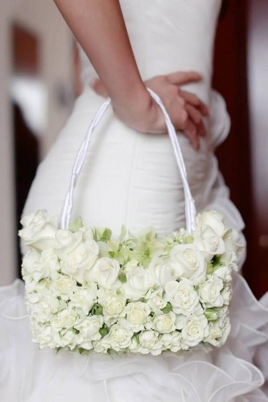 свадебный букет сумочка