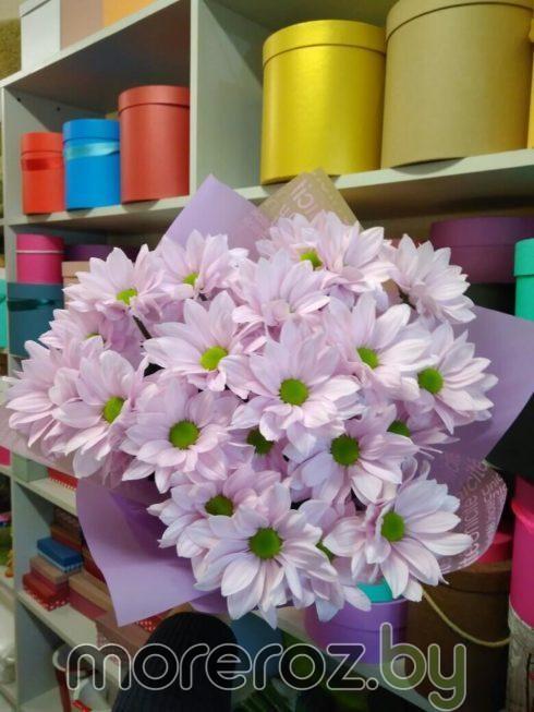 25 ромашек (3 ветки хризантем)