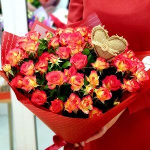 """Букет кустовых роз """"Саммер дэнс"""""""
