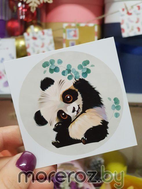 "Открытка ""Панда и эвкалипт"""