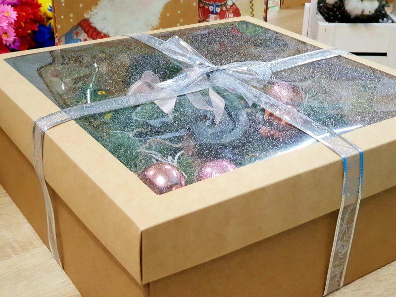 Новогодний венок в коробке
