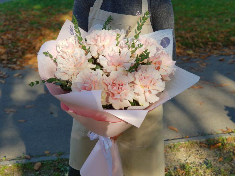Букет Французских роз Воздушный поцелуй