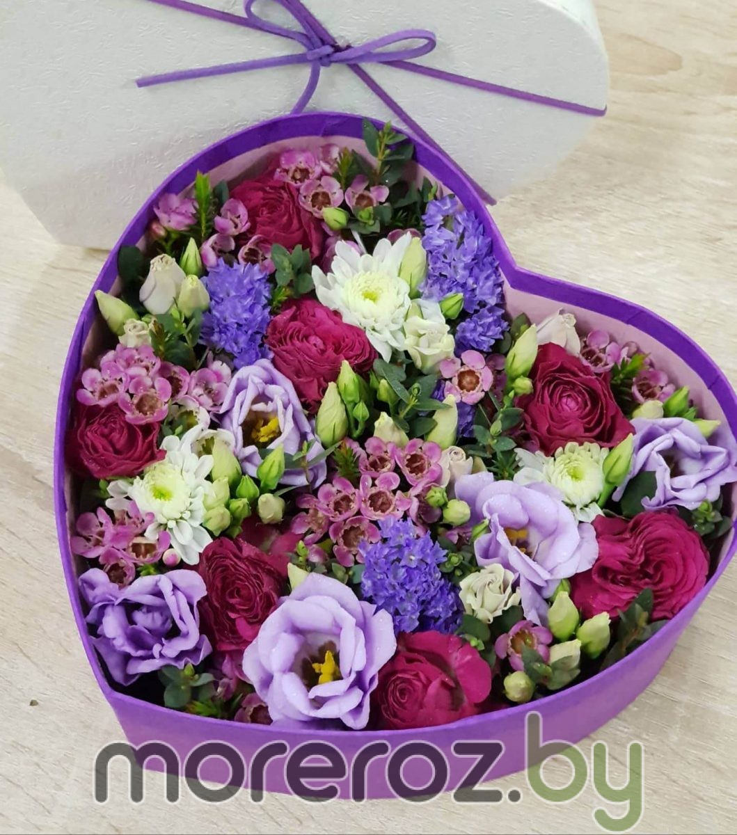 """Коробка с цветами  """"Сердце"""""""