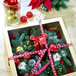 """Венок """"Сочельник"""" в подарочной коробке"""