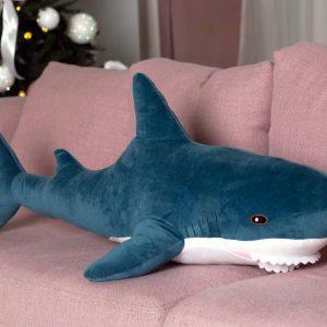 "Мягкая игрушка ""Акула"" морская волна 100 см"