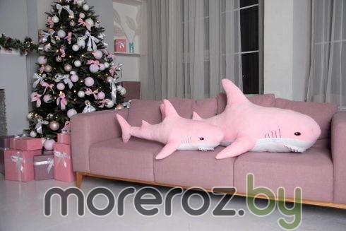 """Мягкая игрушка """"Акула"""" розовая 140 см"""