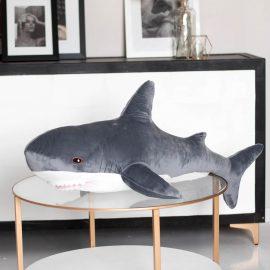 """Мягкая игрушка """"Акула"""" графит 100 см"""