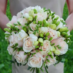 """Букет невесты """"Пудровый шлейф"""""""