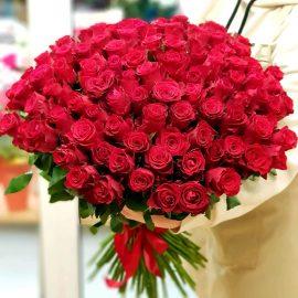 "101 роза ""Родос"" 60 см"