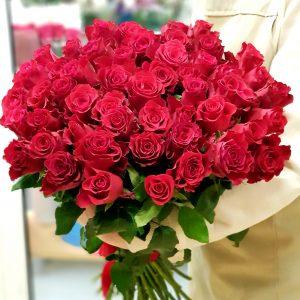 "51 роза ""Родос"" 60 см"
