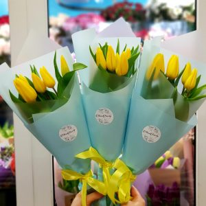 "Букет ""5 желтых тюльпанов"""