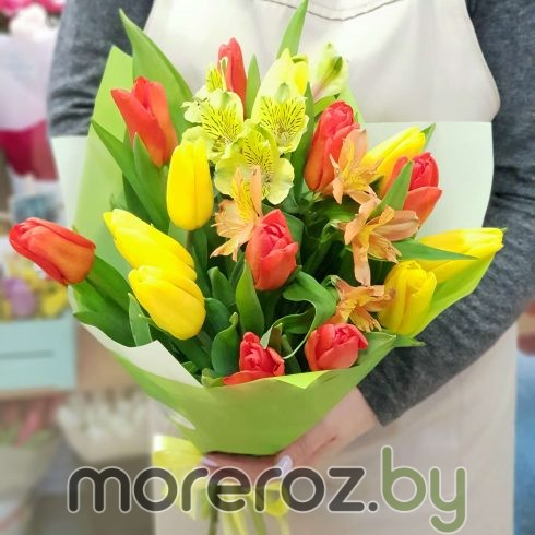 """Букет тюльпанов """"Ясный день"""""""