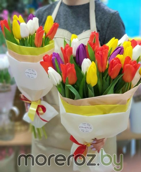 "Букет тюльпанов ""Яркий микс"""