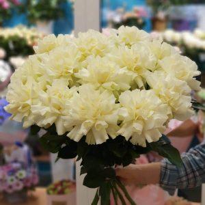 Букет белых французских роз