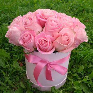"""Коробка из 21 розы """"Хермоса"""""""