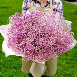 Букет розовой гипсофилы XXL