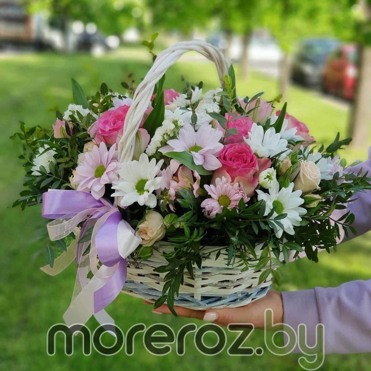 """Корзина с цветами """"Малибу"""""""