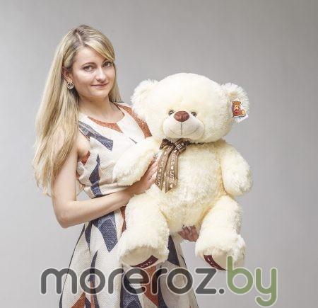 МИШКА Нежно-кремовый I LOVE YOU 85 см