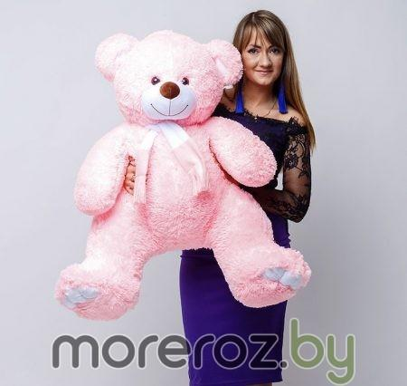 Мишка Оскар розовый 120 см