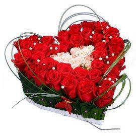 купить сердце из роз